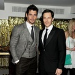 David Gandy con un semi-italiano y Paul Sculfor