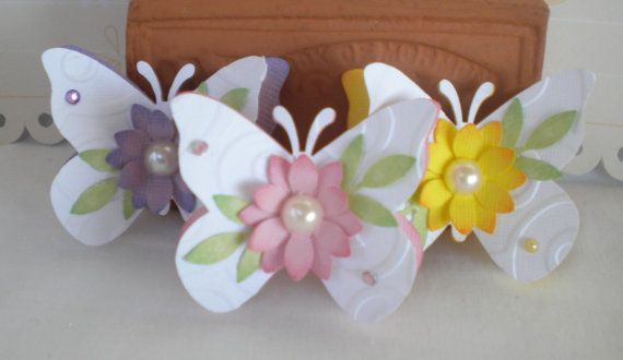 +pib  Sweet Butterfly Embellishments Spring Pastels by KindrasCreations, $2.99