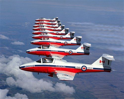 Canadian Snowbirds Formation ... can usually be seen in the skies of Ottawa during the Canada Day festivities.