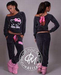 Hello Kitty Sweatshirt & Pants Fleece Set