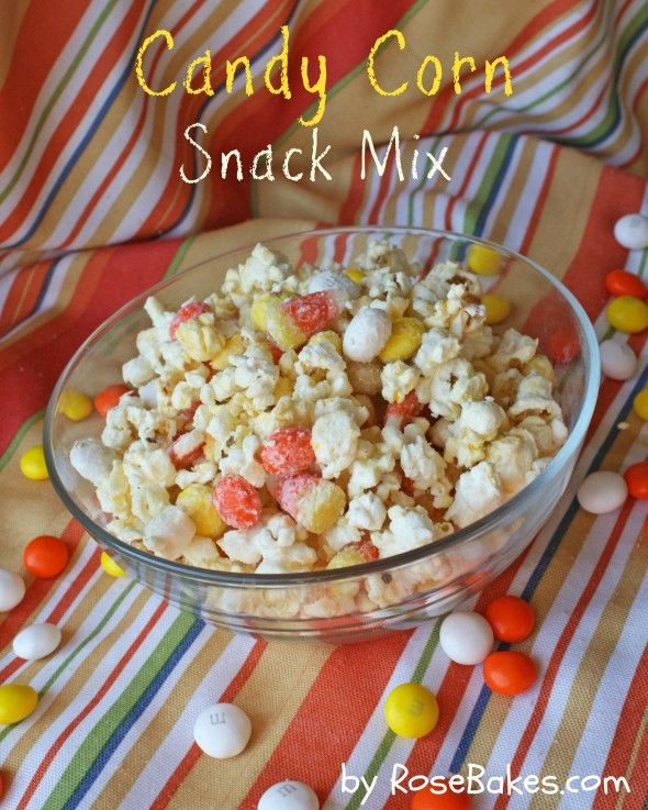 Addictive Candy Corn Snack Mix - easy 5 ingredients and done in 10-15 mins!   by @RoseBakes