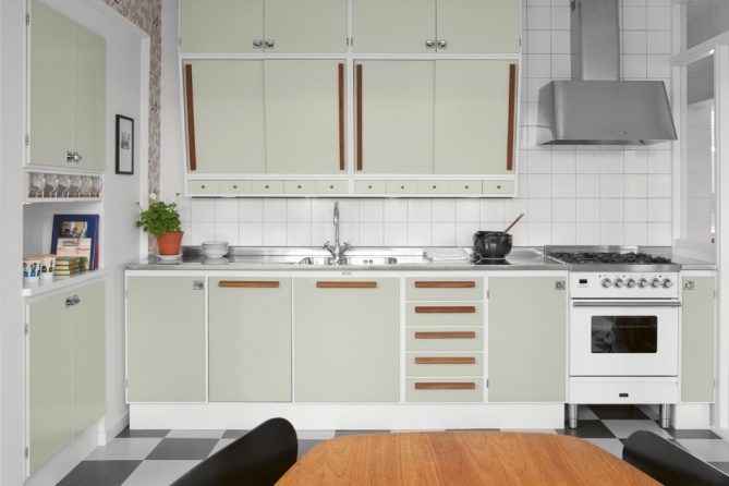 retro style #kitchen from Kvanum: Banér pärlgrön | Tradition