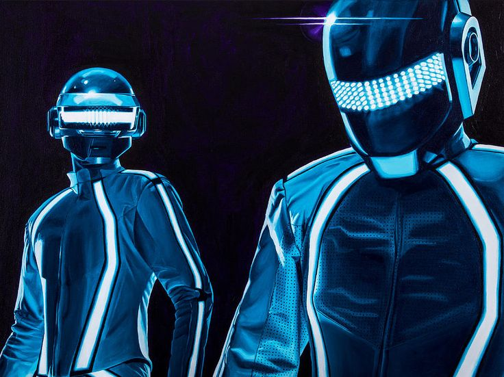 47 best images about dubstep on pinterest steam punk for Daft punk mural