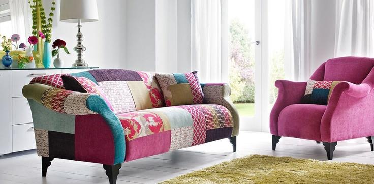 OMG love patchwork sofa's!