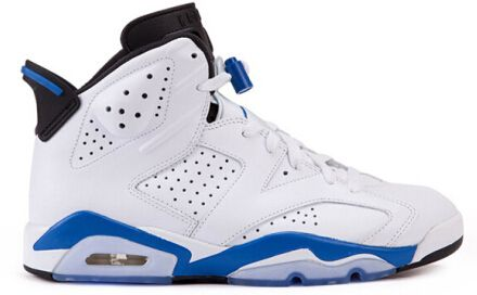 Authentic 384664-107 Air Jordan 6 Retro White/Sport Blue-Black http://www.noveljordan.com