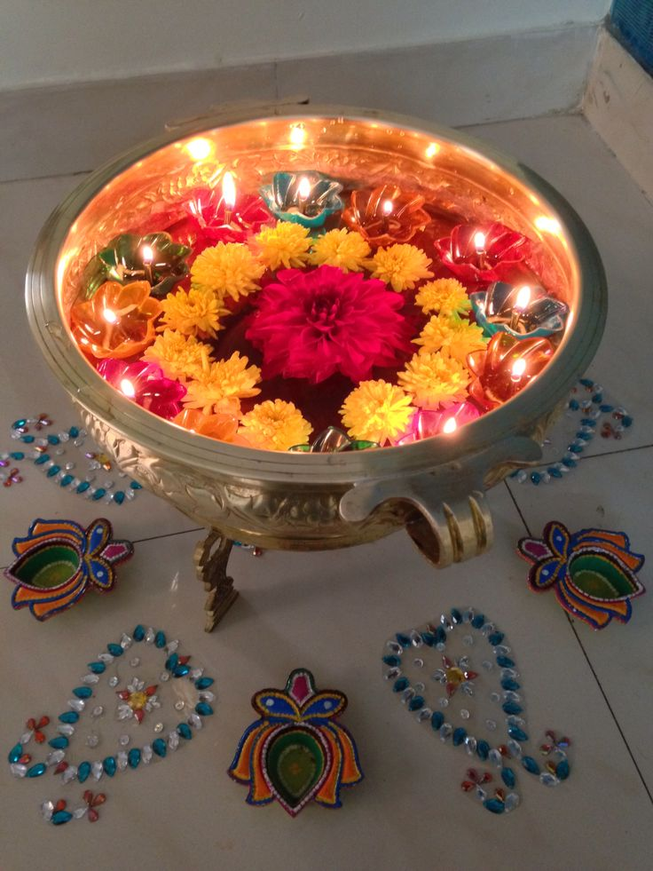225 best pooja and festival decor images on pinterest for Indian home decorations ideas