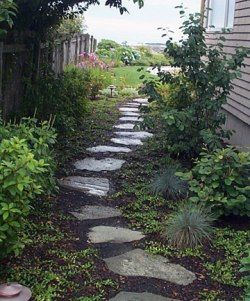 Consider a natural stone stepping path or walkway to guide traffic throughout your property and reduce wear and tear on your turf.