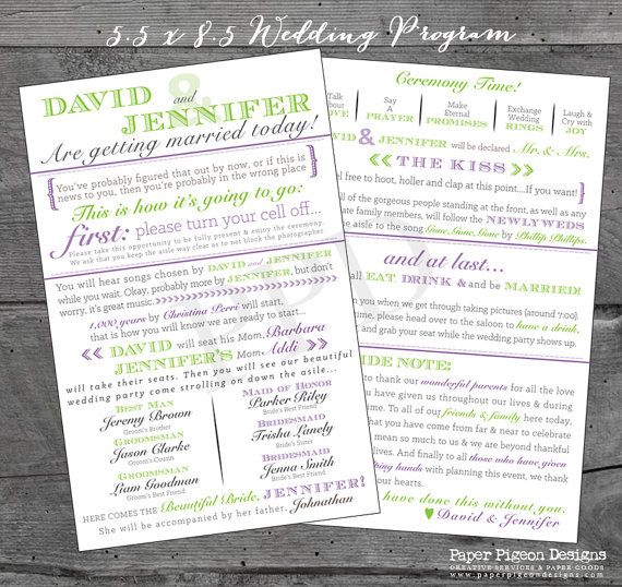 The  Best Printable Wedding Programs Ideas On