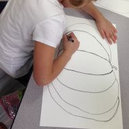 1st Grade Pumpkins (Drawing - Day 1 - Step by Step) #artsed #artedchat #pumpkins