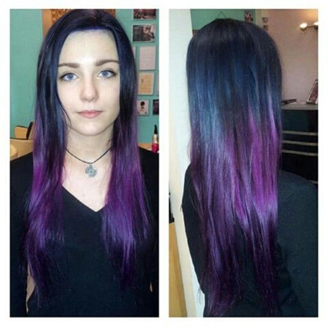 #mulpix #hairdressing #haar #hair #haircolor #color #ombrehair #ombre #vlasy #fiolet #violet #violetombre #elumen