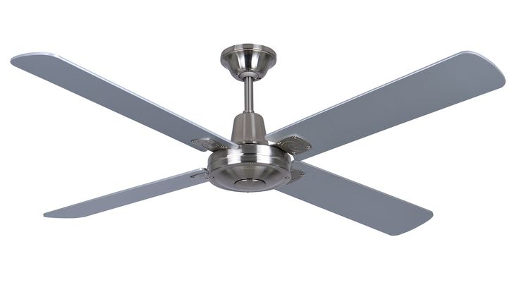 "EID Fans | Iconic Fan Company MAXair Timber 48"" Ceiling Fan Brushed Chrome"