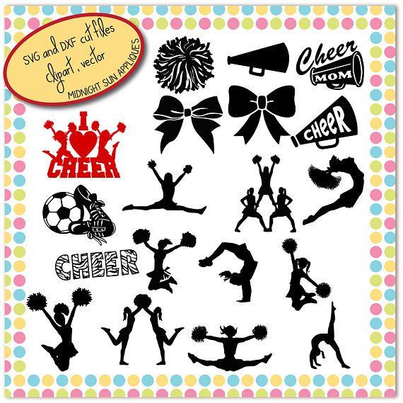 Cheerleader SVG cheer silhouettes cheerleader cut file