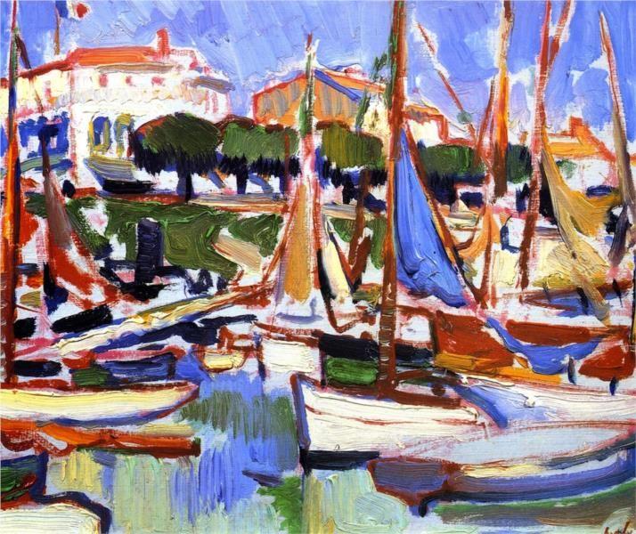 Boats at Royan - Peploe Samuel