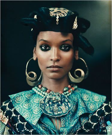 Liya Kebede as African Queen. Photo by Paolo Roversi for the New York TImes…