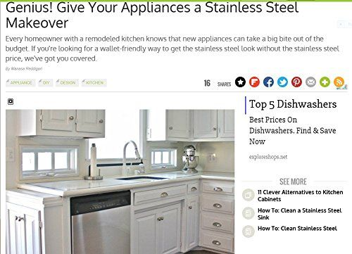 EzFaux Dcor Stainless Dishwasher Cover >>> Check out the image by visiting the link.Note:It is affiliate link to Amazon.