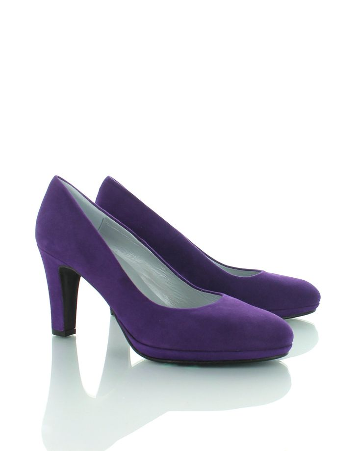 Suède Paarse Pumps van Colori shoes