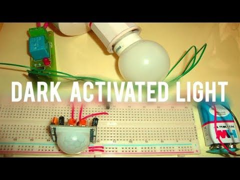 How to make Automatic dark activated light sensor Dark activated light sensor is a electronics device that can turn on light in darkness. Automatic dark activated light sensor can be make by using LDR Darkness Sensor Circuit. REQUIRED 1) LDR-----1 piece 2) RESISTOR (50k)---------1 piece . 3) RESISTOR (1k)---------1 piece . 4) TRANSISTOR (BC547)---------1 piece. 5) BATTERY---------1 piece.