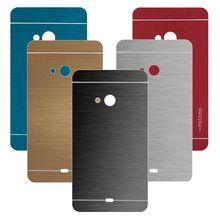 Luxo metal escovado alumínio plástico rígido phone case para microsoft nokia lumia 535 capa para nokia lumia 535 tampa traseira case(China (Mainland))