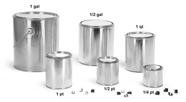 Image Result For Sizes Of Paint Cans Plastic Jars Metal Containers Paint Cans