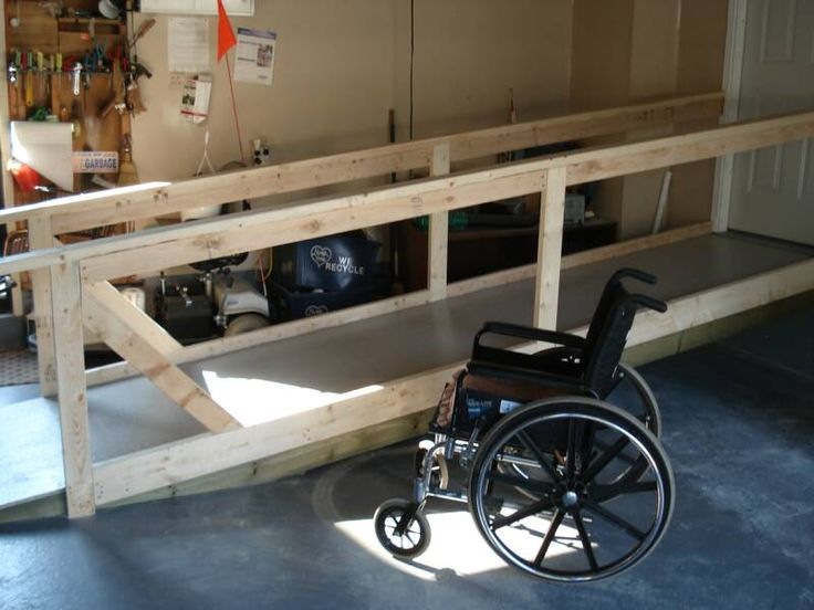 Wheelchair ramp in garage109 best Accessible Ramps images on Pinterest   Wheelchair ramp  . Portable Wheelchair Ramp For Home. Home Design Ideas