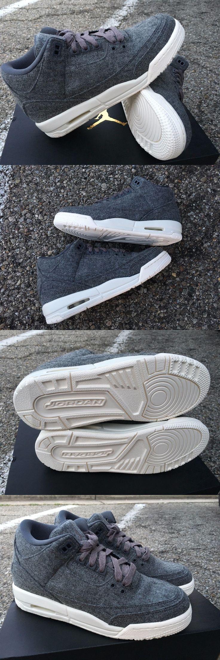 Boys Shoes 57929: Size 7 - New Air Jordan Retro 3 Iii Gs Youth Wool Bg Dark Grey 861427-004 - $150 -> BUY IT NOW ONLY: $59.99 on eBay!