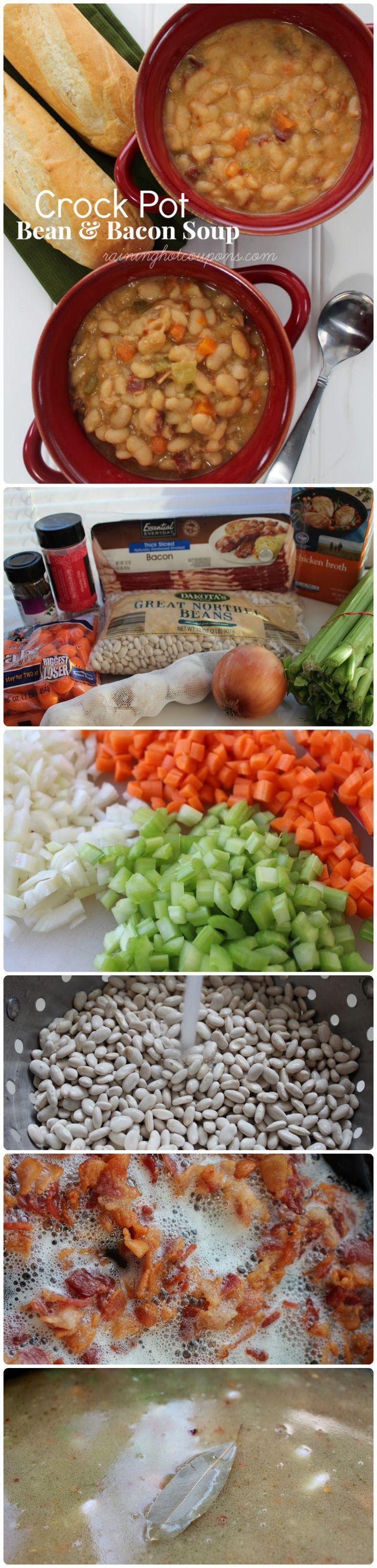 Crock Pot Bean & Bacon Soup