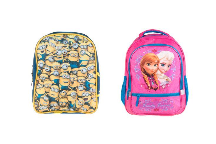Mochilas escolares de Frozen, Minions y Violetta http://stylelovely.com/primeriti/2016/02/26/mochilas-escolares/