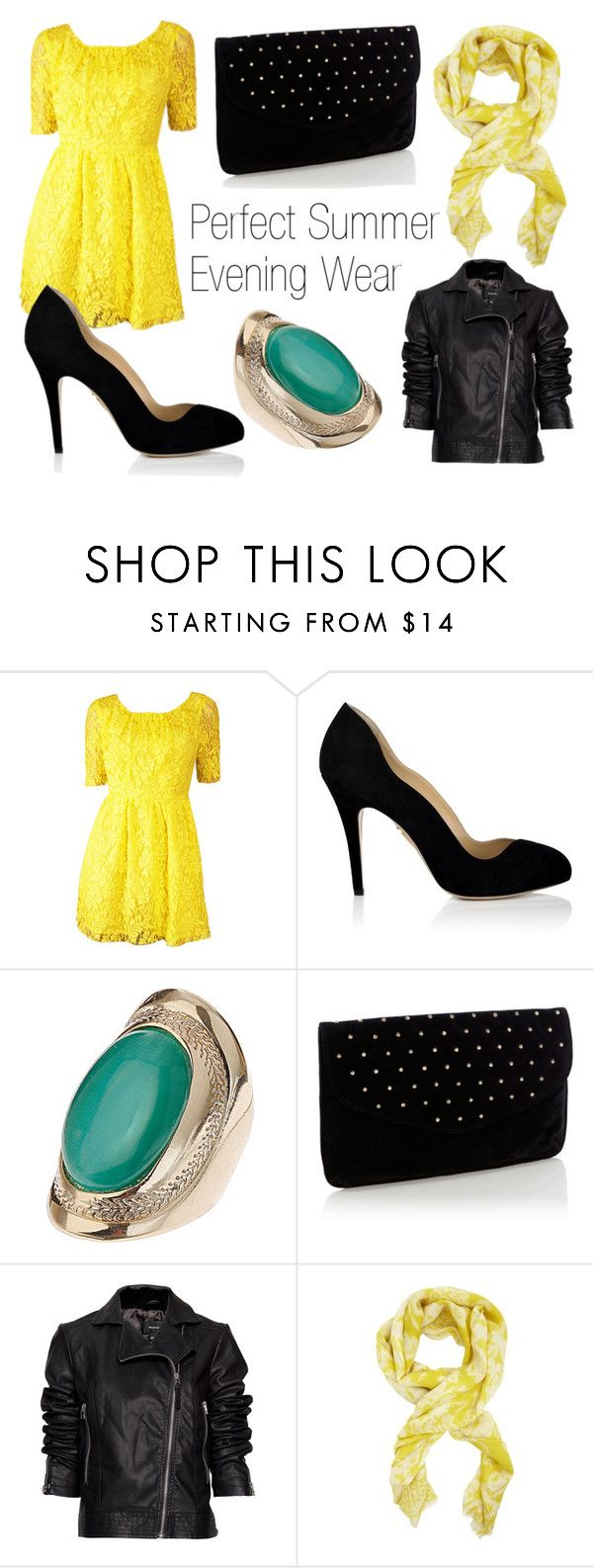 """Summer Evening Wear"" by henriette-runa-larsen ❤ liked on Polyvore featuring Charlotte Olympia, Dorothy Perkins, Oasis, MANGO and BCBGMAXAZRIA"
