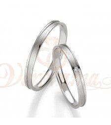 Βέρες γάμου λευκόχρυσες με διαμάντι breuning 4325-4326
