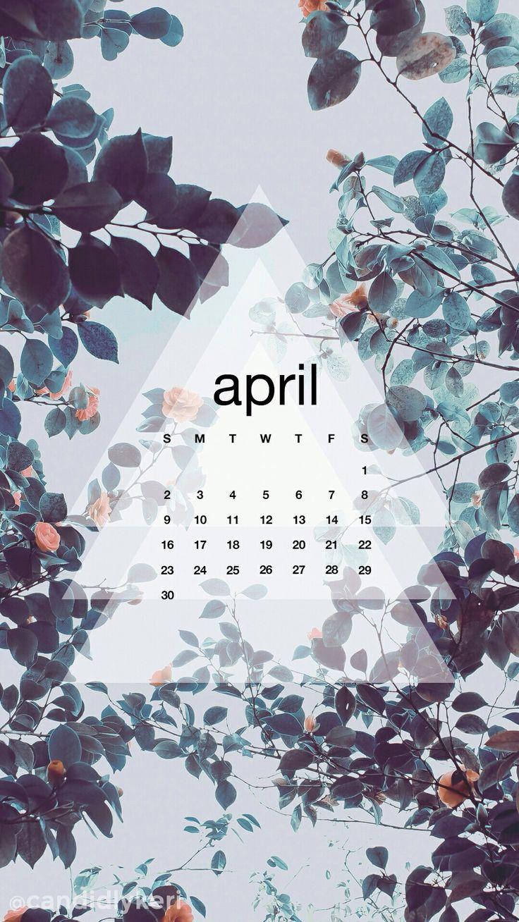 Floral blue calendar