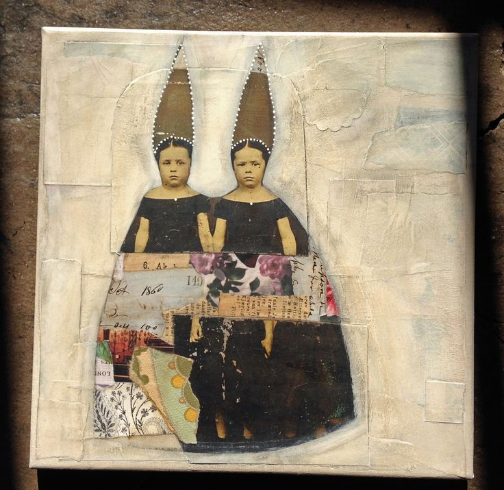 Lynn Whipple Joy of Collage - online class.  vintage.clementine