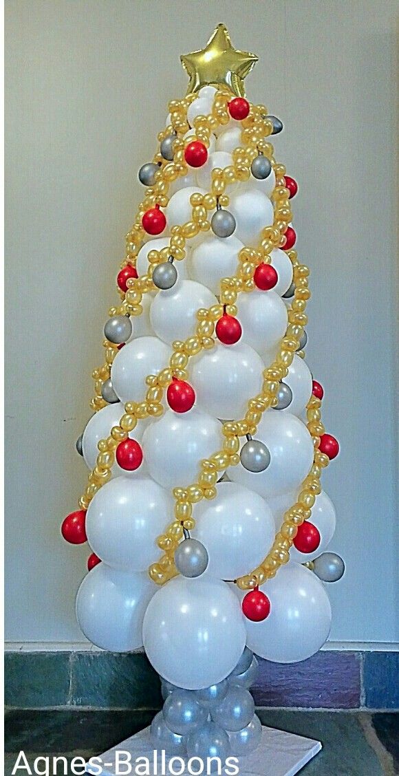 Balloon Garland Chirstmas Tree Such A Great Idea Holiday