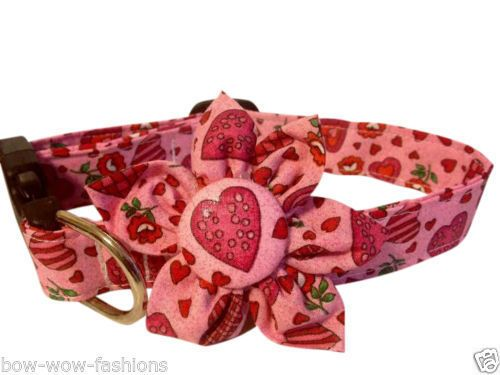 SPIFFY POOCHES Dog Puppy Collar VALENTINE HEARTS Blossom Flower Clothes #SPIFFYPOOCHES