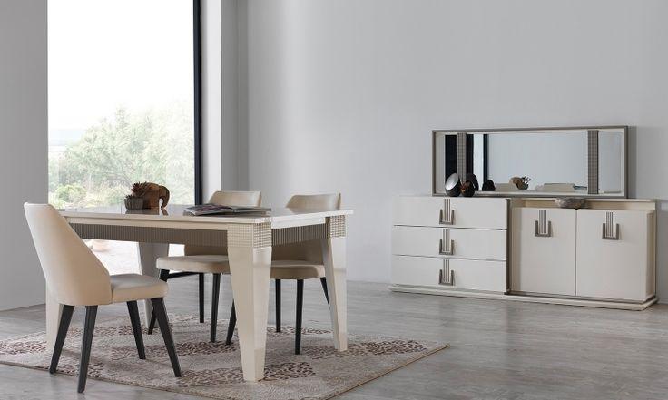 Sessiz, sade ve göz alıcı… Minimalist tasarımı ile ön plan açıkan Hunter Yemek Odası Takımı sadeliğin güzelliğini yaşamak isteyenlere yepyeni bir dünyanın kapılarını aralıyor.  #yemekodası #yemekodasi #tarz #tarzmobilya #mobilya #mobilyatarz #furniture #interior #home #ev #dekorasyon #şık #işlevsel #sağlam #tasarım #konforlu #livingroom #salon #dizayn #modern #rahat #konsol #follow #interior #armchair #klasik #modern