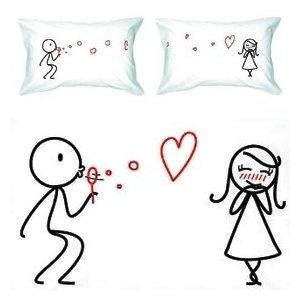 BoldLoft From My Heart to Yours Couple Pillowcases-Romantic Valentine's Day Gifts for Couples, Cute Valentines Gifts for Him or Her, Romantic Anniversary Gifts Price: