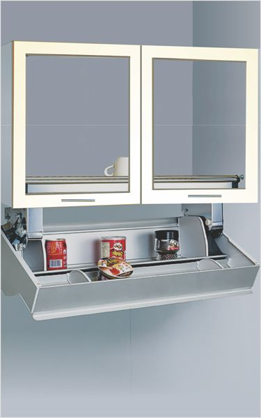 Midway Storio  Pull Down Storage unit for 600 & 900mm cabinets Ideal for storage of spices, sugar, grocery etc. Requires the cabinet depth of 340mm