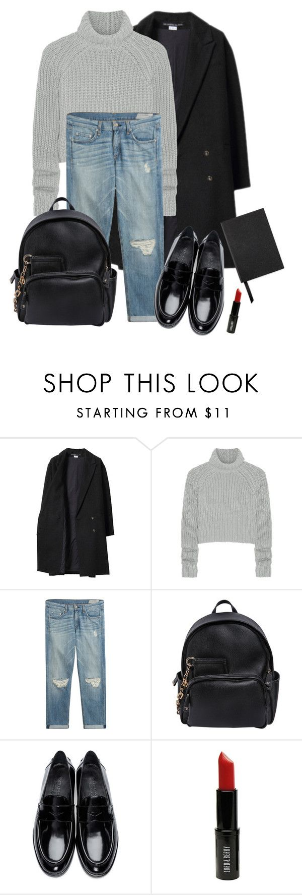 """Noora Skam"" by vickiprevi ❤ liked on Polyvore featuring Les Prairies de Paris, T By Alexander Wang, rag & bone, Dsquared2, Burberry, Lord & Berry and Smythson"