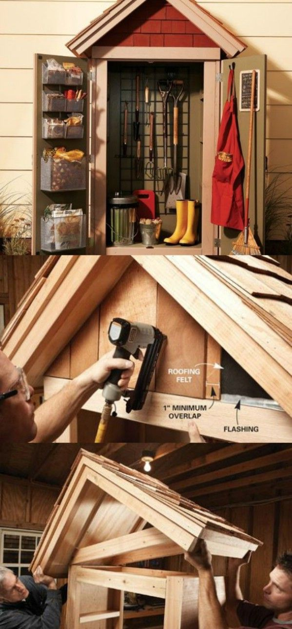 How to Make a Garden Closet - 49 Brilliant Garage Organization Tips, Ideas and DIY Projects
