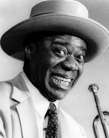Louis Armstrong, singer, trumpeter, band leader, actor  1901-71
