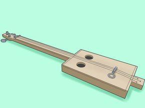 tutorial para hacer una guitarra de caja de puros (cigarbox guitar)