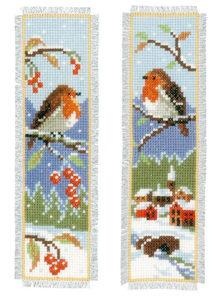 Robin Bookmark cross stitch Kits