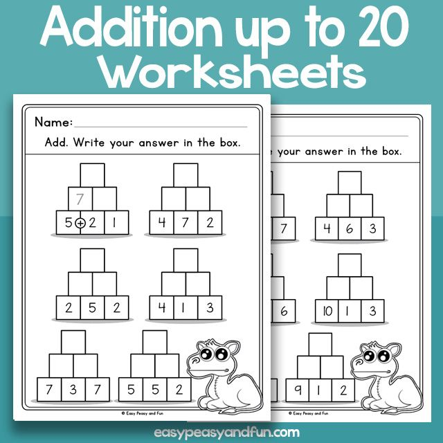 Pyramid Addition Up To 20 Worksheets Worksheets Kindergarten Worksheets Pyramids Addition worksheets up to 20