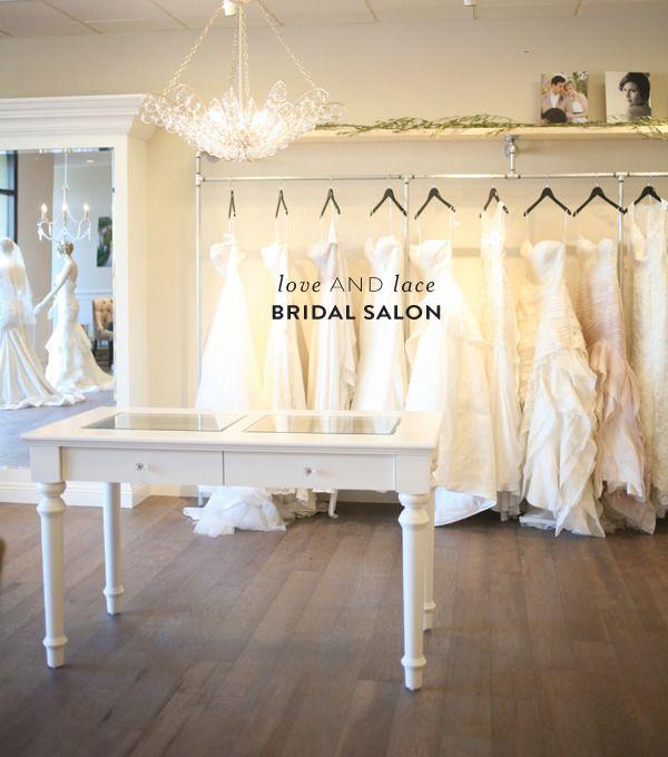 Love and Lace Bridal Salon  Read more - http://www.stylemepretty.com/california-weddings/irvine/2014/01/21/love-and-lace-bridal-salon/
