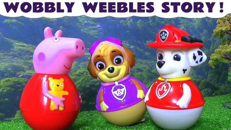 Peppa Pig and Paw Paw Patrol Wobbly Weebles Toy Story English Episode In...
