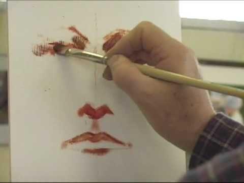 Fabulous demo on painting a portrait...part 1