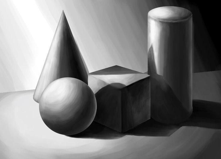 نتيجة بحث الصور عن اشكال هندسية مظلله Shapes Study Deviantart