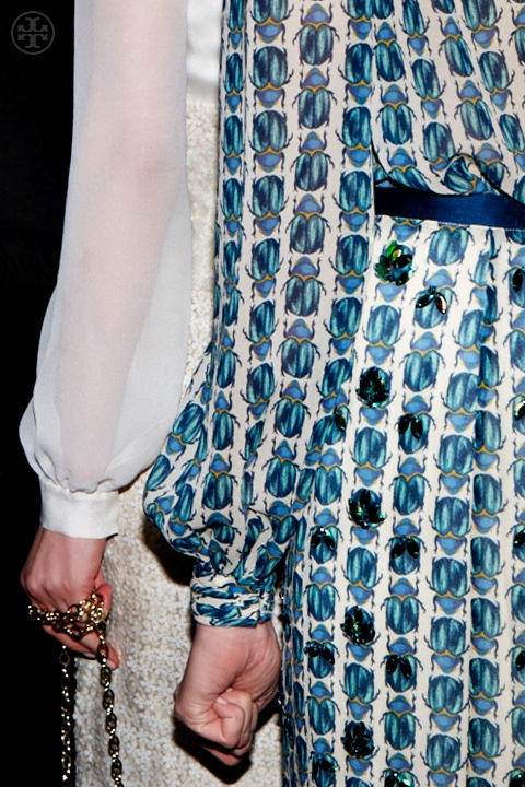 Backstage at Tory Burch Fal 2013