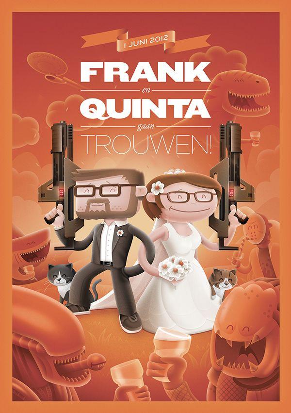 Frank & Quinta - Wedding card on Behance