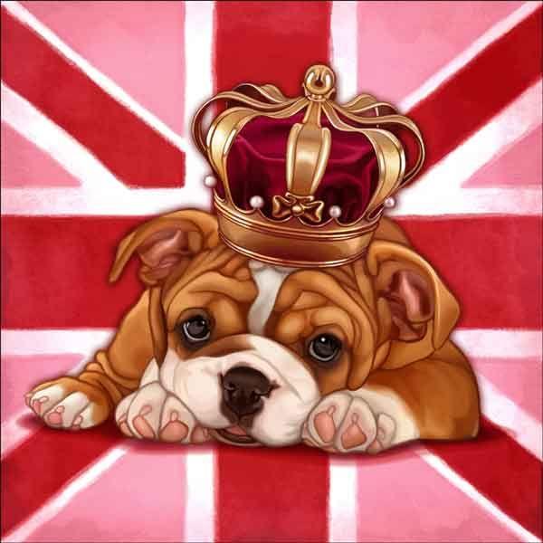 Check out the deal on Cazenave British Dog Ceramic Accent & Decor Tile - MC2-006aAT at Artwork On Tile Online Storefront