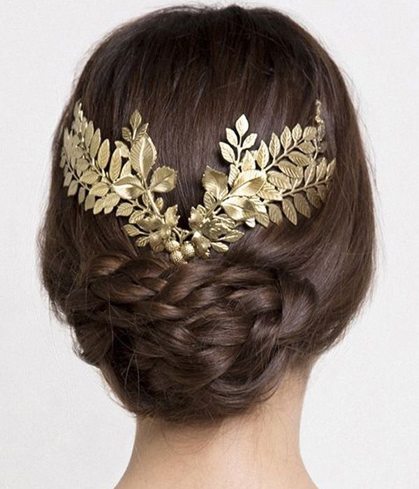 Wedding Braided Hairstyles with Low Bun